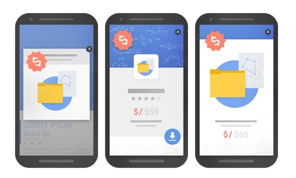 popups intrusivos para Google