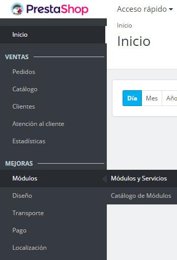 PrestaShop 1.7 Módulos y Servicios