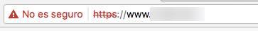 web no segura https
