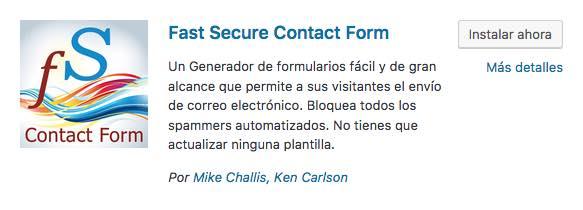 Fast Secure Contact Form plugin wordpress