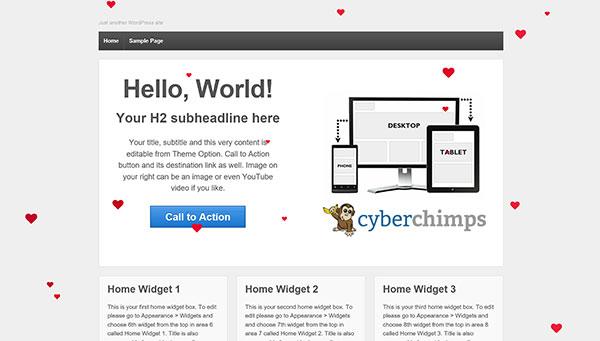 WP Valentine's Day Hearts Web