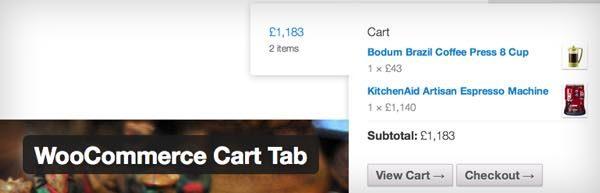 WooCommerce Cart Tab wordpress plugin