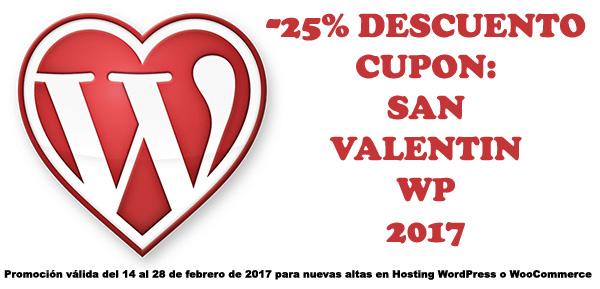 WordPress Corazón Promoción SanValentinWP2017