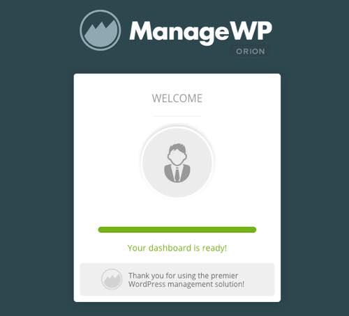 dashboard managewp WordPress