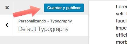 guardar y publicar wordpress