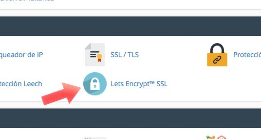 icono lets encrypt cpanel
