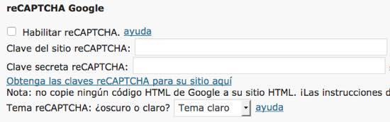 recaptcha google formulario