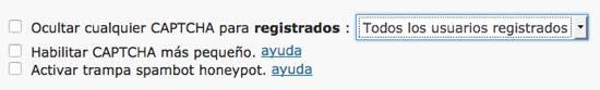 usuarios registrados captcha formulario