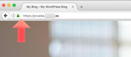 wordpress instalado con certificado ssl