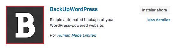 BackUpWordPress plugin wordpress