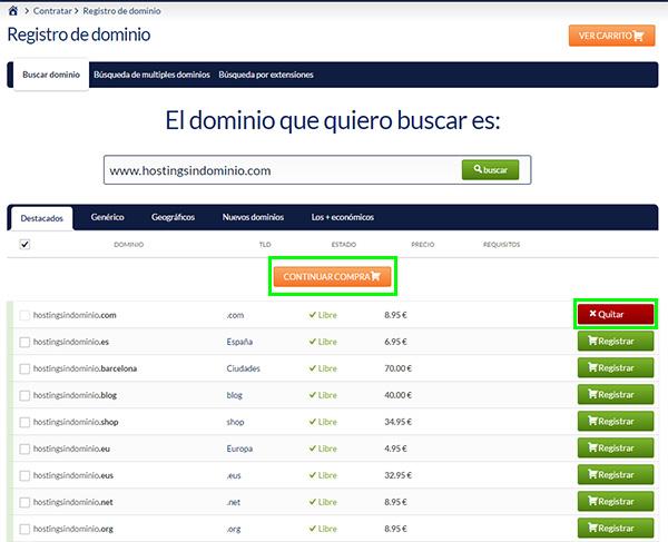 "Hostinet Registrar Dominio Hosting ""SIN Dominio"""