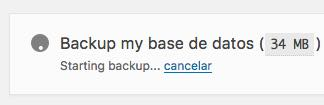 backup funcionando BackUpWordPress