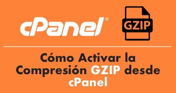 Cómo Activar la Compresión GZIP desde cPanel