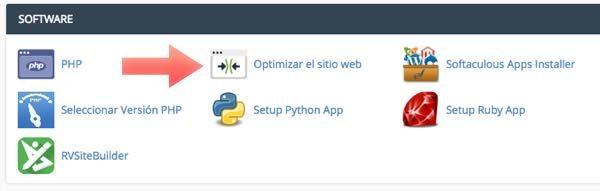 optimizar sitio web desde cPanel