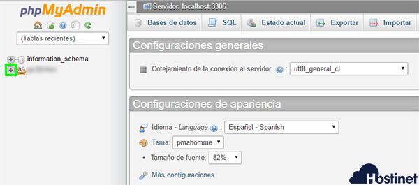phpmyadmin listar bbdd
