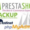 PrestaShop Backup Hostinet phpMyAdmin