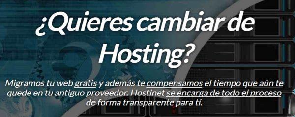 Cambiar Hosting Hostinet 6 Meses GRATIS