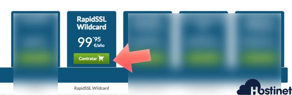 consigue un certificado rapidssl wildcard en Hostinet