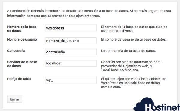 pantalla configuracion wordpress lista para hackear