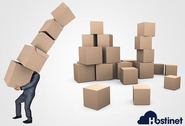 Transporte pila de cajas