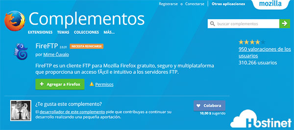 FireFTP Complementos Mozilla