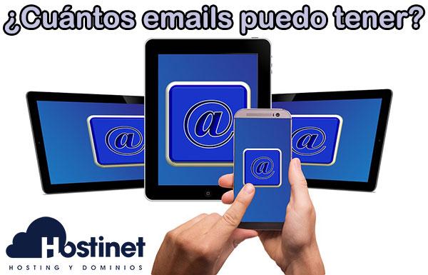 ¿Cuántos emails puedo tener en Hostinet?