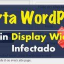 Alerta WordPress - Plugin Display Widgets Infectado