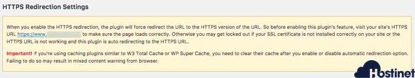 primera advertencia plugin https redirection
