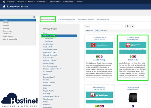 Admin Tools Instalación Web