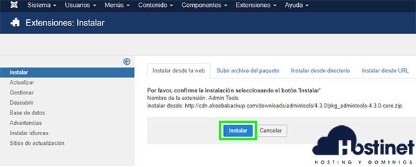 Admin Tools Instalar