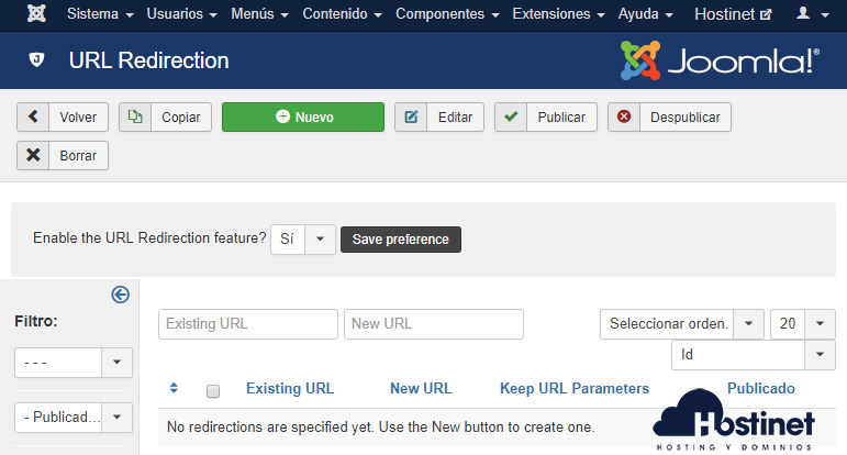 Admin Tools URL Redirection