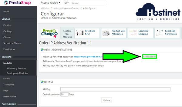 Order IP Address Verification - Configuración