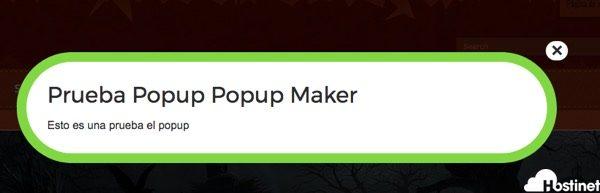 Popup Maker prueba popup wordpress