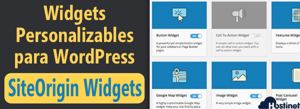 Widgets Personalizables para WordPress con SiteOrigin Widgets Bundle