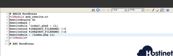 editor codigo administrador archivos cPanel