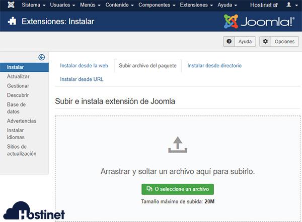Joomla Subir Archivo