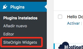 plugins siteorigin widgets para WordPress