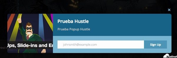 prueba popup hustle para WordPress