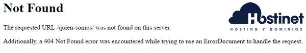 WordPress error 404 Not Found