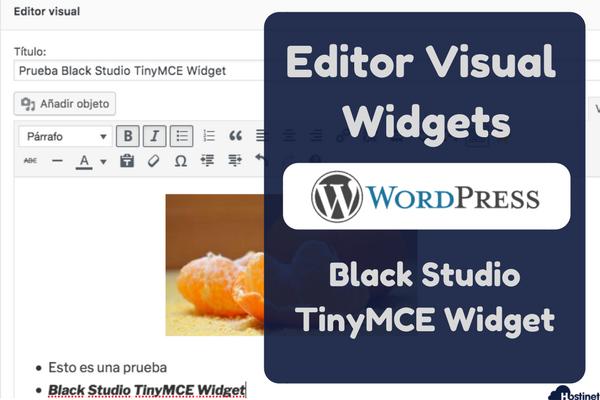 Editor Visual de los Widgets de WordPress - Black Studio TinyMCE Widget