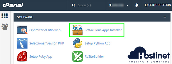 cPanel Softaculous App installer