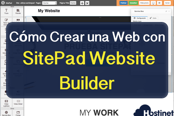 C mo crear una web con sitepad website builder en hostinet Crear website