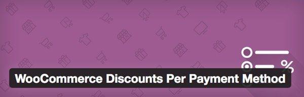Plugin para WooCommerce descuento metodo pago