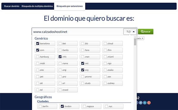 hostinet buscador dominios tld