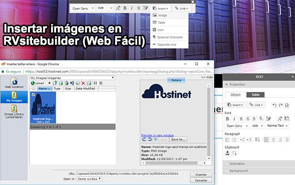 Insertar imágenes en RVsitebuilder (Web Fácil)