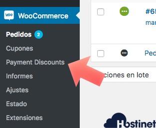 seleccionar descuento pagos en WooCommerce para Cyber Monday