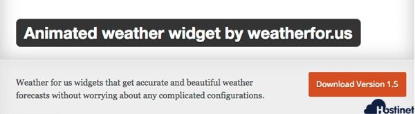 El Plugin Animated Weather Widget by Weatherfor.us. es el Malo de la Historia