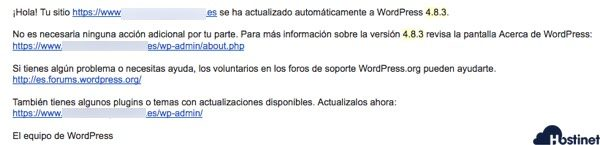 actualizaciones automaticas de WordPress