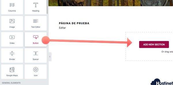 anadir seccion elementor WordPress