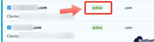 dominio activo transferencia fichar Hostinet